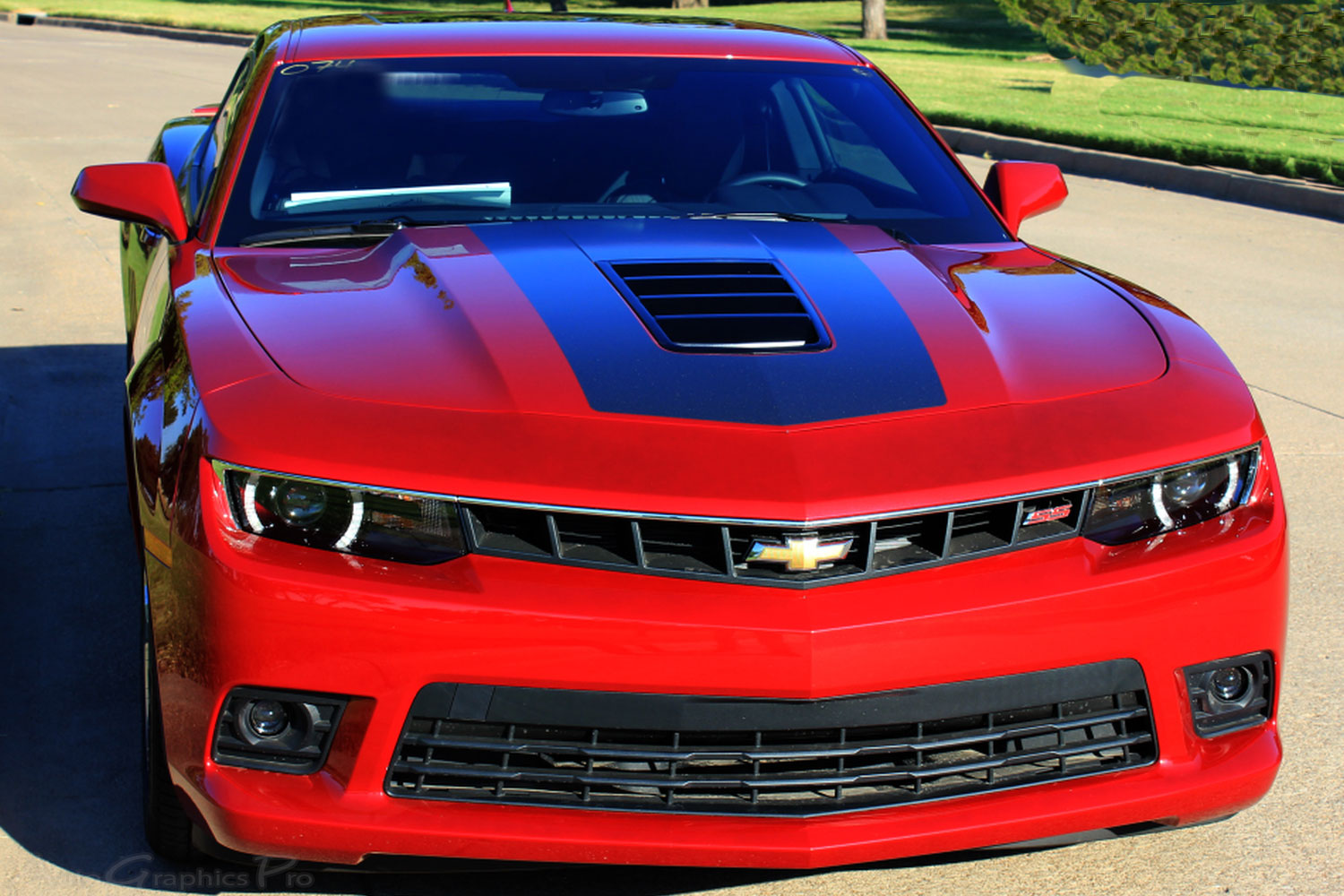 2014 2015 chevy camaro single stripe 2 wide hood and. Black Bedroom Furniture Sets. Home Design Ideas