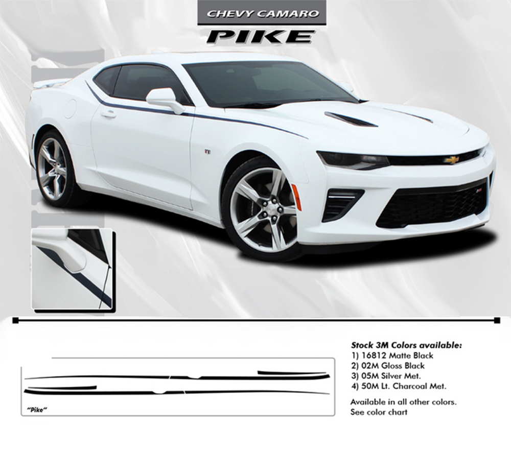 Chevy Camaro PIKE Upper Side Door To Fender Accent - Decal graphics