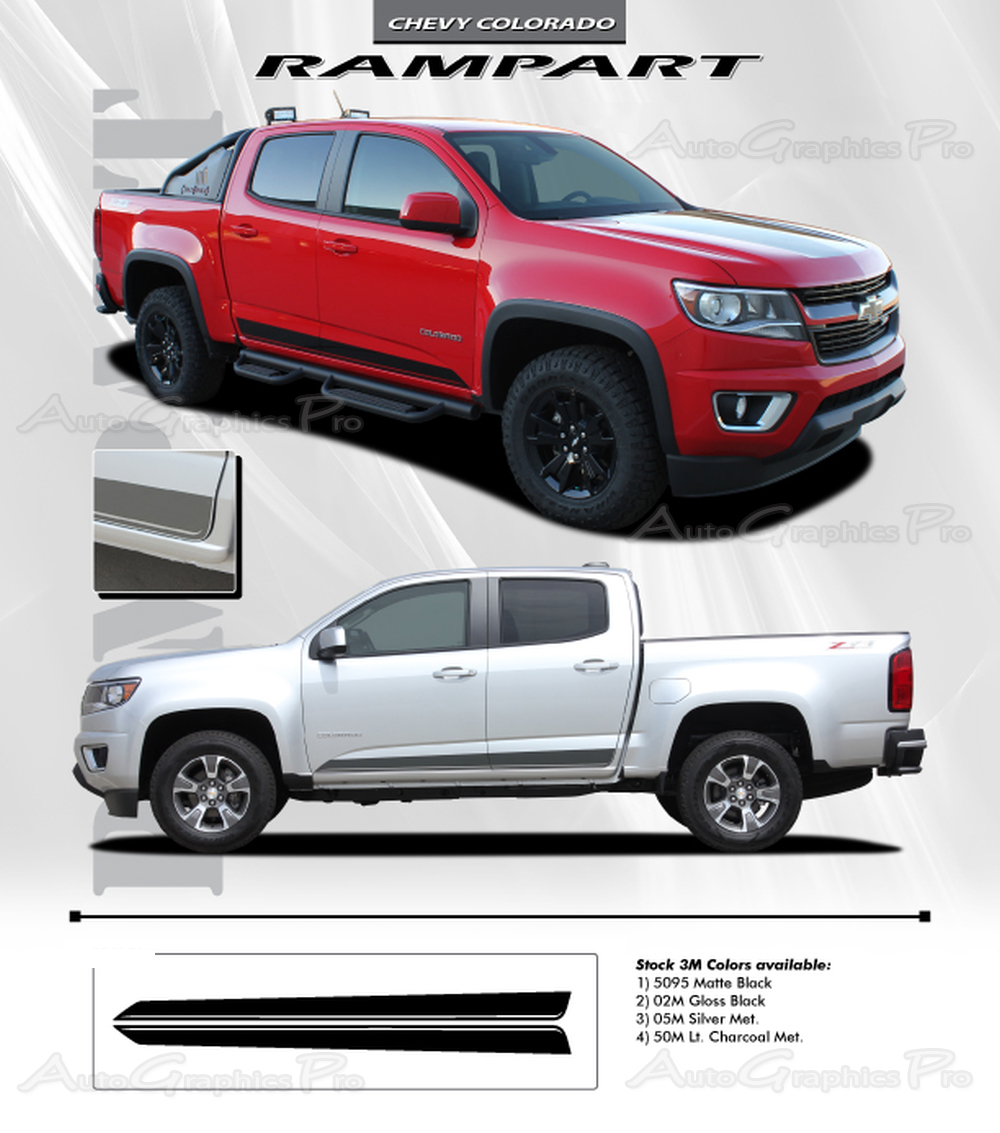 2019 Gmc Canyon Colors First Drive: 2015 2016 2017 2018 2019 Chevy Colorado Stripes RAMPART