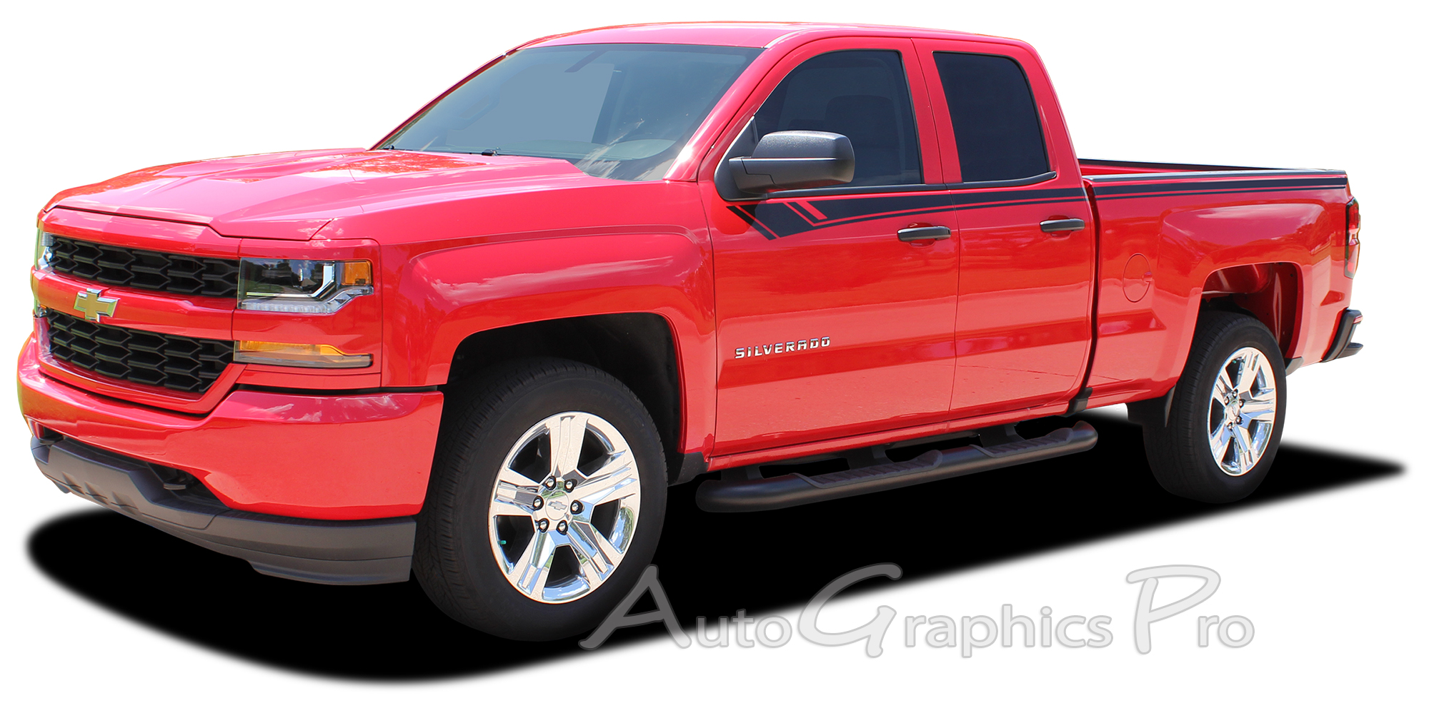 2014 2017 2018 chevy silverado breaker truck stripes upper body accent decals side door vinyl. Black Bedroom Furniture Sets. Home Design Ideas
