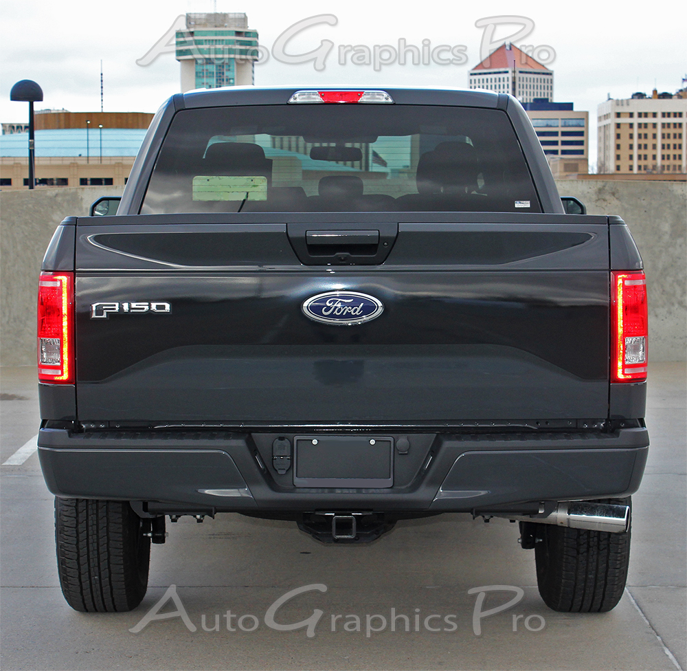 2015 2016 2017 2018 ford f 150 racer style hood and tailgate blackout vinyl decal graphic stripes - 2015 Ford F 150 King Ranch Tailgate