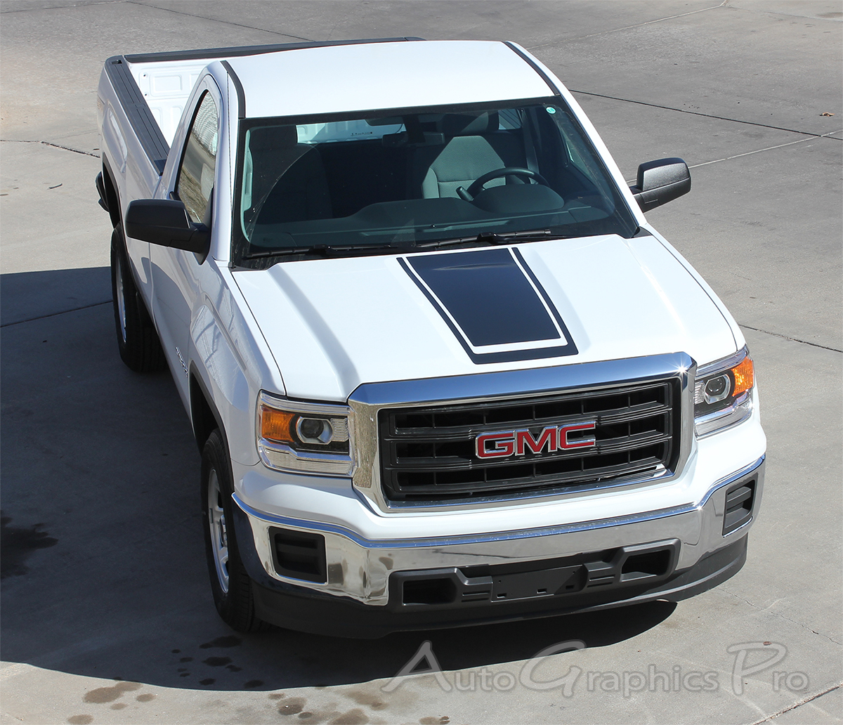 GMC Sierra Stripes MIDWAY Hood Decals Truck Center - Truck decals and graphics