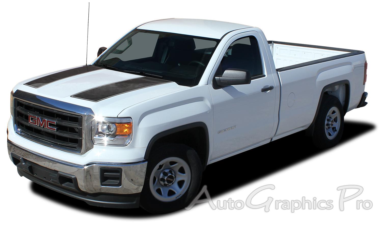 GMC Sierra SIERRA RALLY Truck Hood Racing Vinyl - Vinyl graphics for trucks