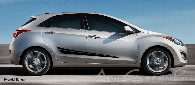 Quot Flash Quot Hyundai Elantra Side Door Vinyl Graphics Stripes Kit