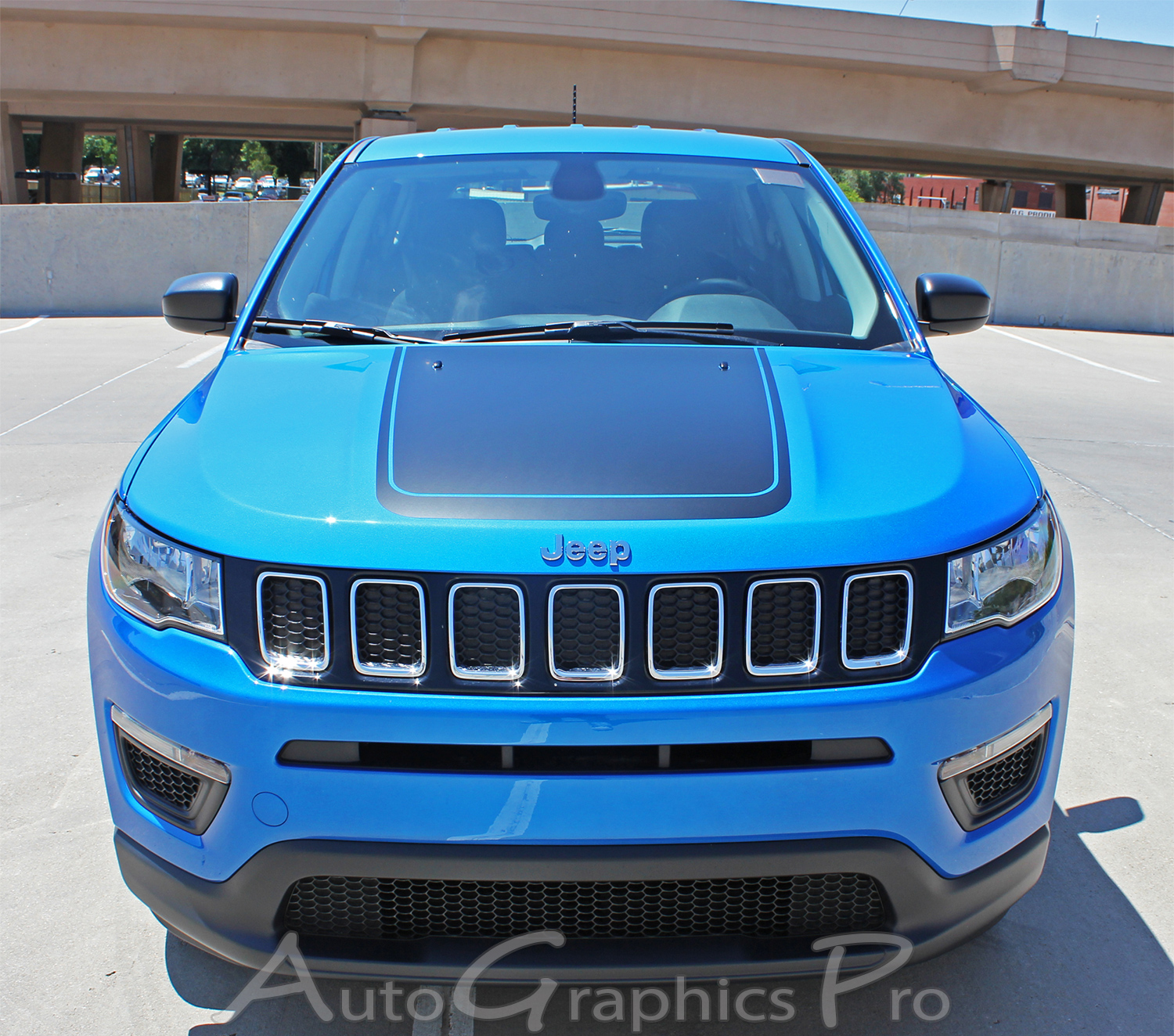 "2017-2019 Jeep Compass Hood Vinyl Graphics ""BEARING"