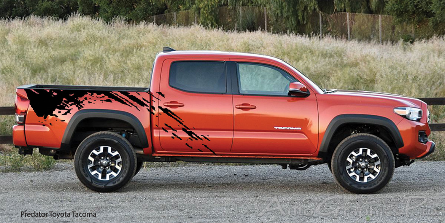 """predator"" Toyota Tacoma Mudslinger Side Truck Bed Vinyl. Floor Mouth Signs. Getting Started Banners. Purchase Address Labels. Top Murals. Mother Child Logo. Wall Mount Signs. Fancy Blank Labels. Venom Banners"