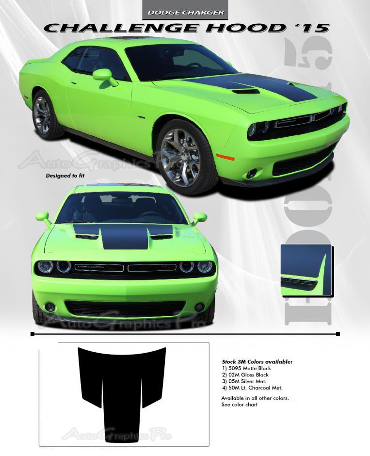 Dodge Challenger HOOD Mopar OEM Style Vinyl - Decal graphics