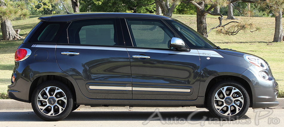 20142016 Fiat 500L SIDEKICK 4Door Stripes Vinyl Graphic Kit