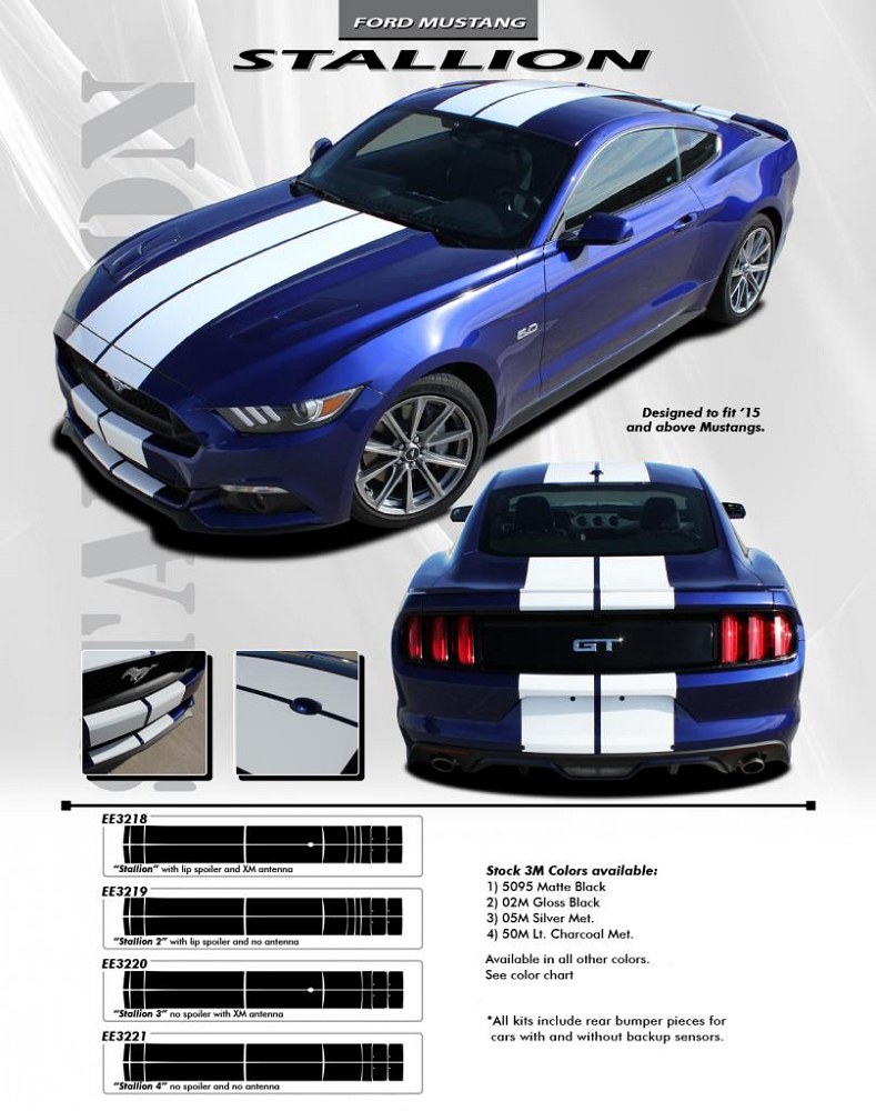 "2015 2016 2017 Ford Mustang ""STALLION"" 10"" inch wide ..."