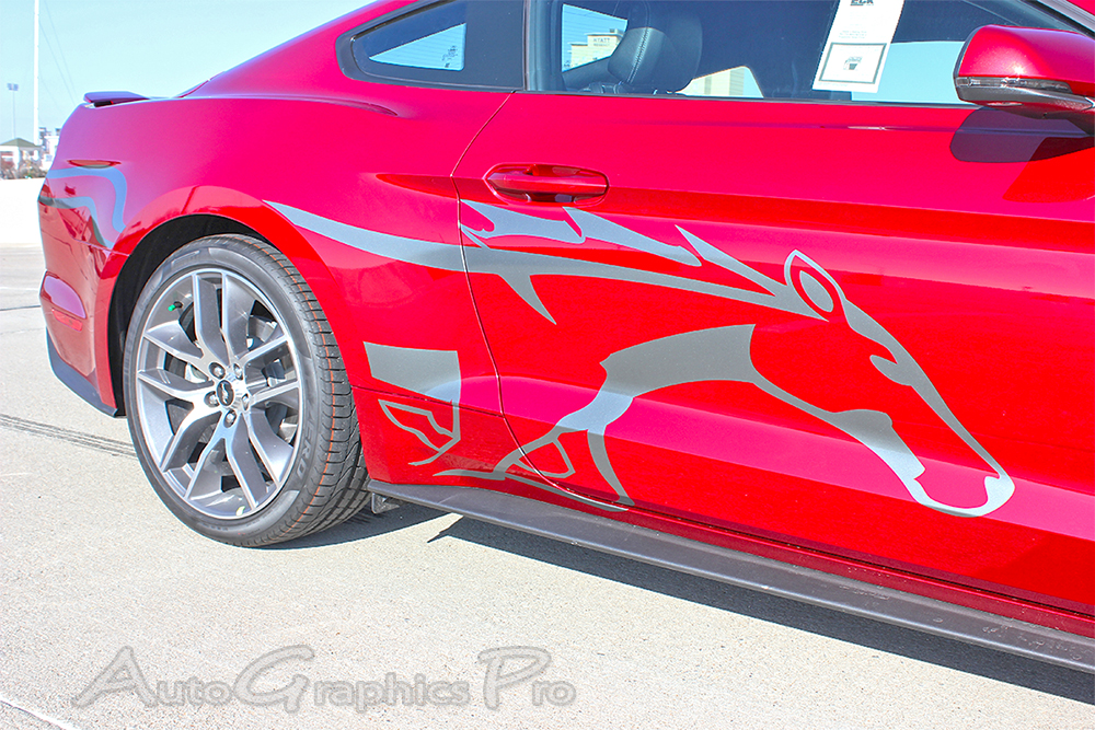 Ford Mustang STEED Pony Style Horse Side Stripes - Vinyl graphics for a car