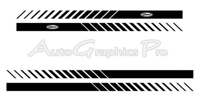Ford F ROCKER STROBES Lower Rocker Stripes Vinyl Decal Graphics - Decal graphics