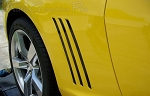 "2010-2015 Chevy Camaro ""GILL"" Stripes Vent Vinyl Graphics for SS, RS, LS, LT Models"