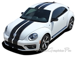 "2012-2015 Volkswagen Beetle ""RALLY"" Bumper to Bumper Racing Stripes 3M Vinyl Graphics"