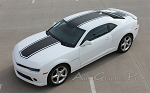 2014-2015 Chevy Camaro BEE 3 Bumblebee Center Wide Rally and Racing Stripes Kit for SS or V6 Coupe Models Only