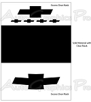 "2010-2013 Chevy Camaro ""BLACKOUT - BOWTIE EMBLEM SET"" Vinyl Decal"