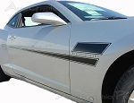 "2010-2013 and 2014-2015 Chevy Camaro ""SHAKEDOWN"" Hockey Stick Side Vinyl Graphics Stripes Kit"