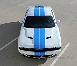 2015 2016 2017 2018 Dodge Challenger Racing Stripes RALLY Hood Decals OEM Style 10 inch Vinyl Graphics Kit