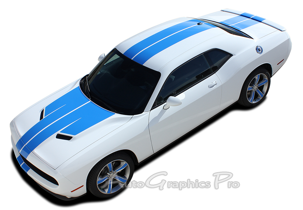 2015 2016 2017 2018 Dodge Challenger Rally Hood Stripes ...