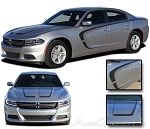 "2015 Dodge Charger ""C-STRIPE COMBO"" Hood and Sides Mopar Style Vinyl Graphics Stripes Kit"