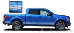 "2015 Ford F-150 ""ROCKER TWO"" Lower Rocker Stripes Vinyl Decal Graphics"