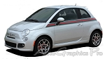 "2007-2015 Fiat 500 ""ITALIAN APPLIQUE"" Gucci Red and Green Door Stripes Vinyl Graphic Kit"