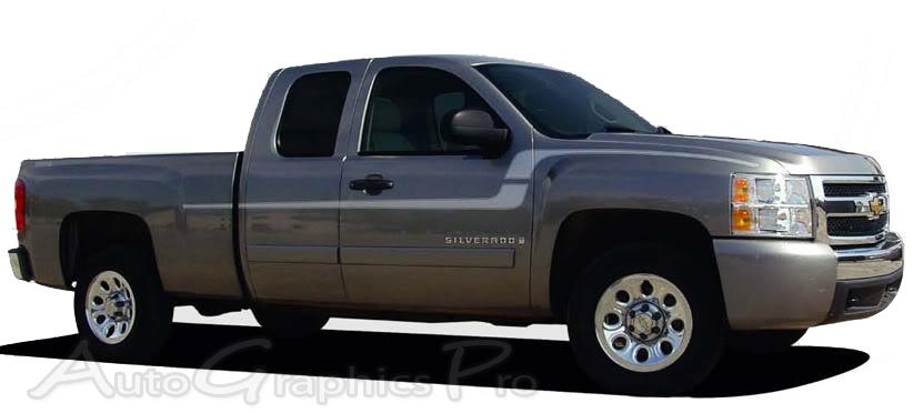 Chevy Silverado Stripes FLEX Truck Decals Side - Truck decals and graphics