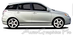 "Ford Focus ""LAZER"" Upper Body Wide Pin Striping Vinyl Graphic Decal Kit - Universal Fit"