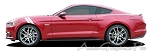 "2015 Ford Mustang ""DOUBLE BAR"" Hood to Fender Hash Mark Side Stripes Vinyl Decal Graphics"