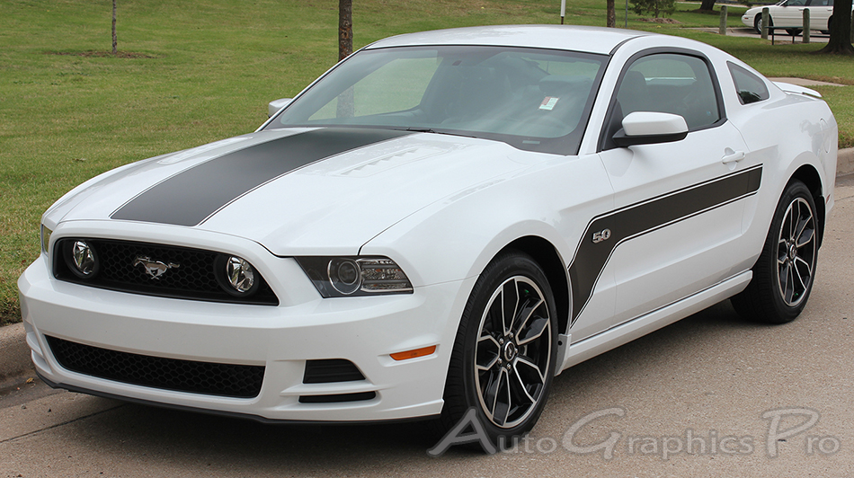 Mustang Decals And Stripes >> 2013 2014 Ford Mustang Flight Hockey Style Vinyl Decal Graphics