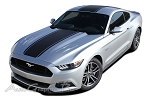 "2015 Ford Mustang Super Snake ""MEDIAN"" Mohawk Center Wide Racing and Rally Stripes Vinyl Decal Graphics"