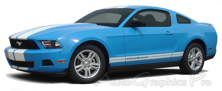 Mustang Decals And Stripes >> 2010 2012 Ford Mustang Stampede Rocker Factory Oem Style Lower