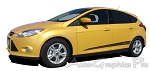 "2012-2015 Ford Focus ""PINPOINT"" Side Door Vinyl  Graphic Decals Stripes"