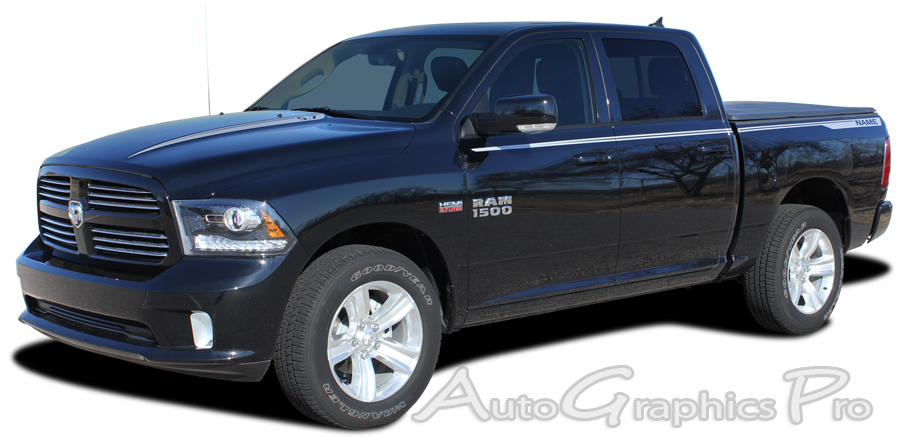 2009 2018 Dodge Ram Quot Hustle Quot Truck Hood Spears And Side
