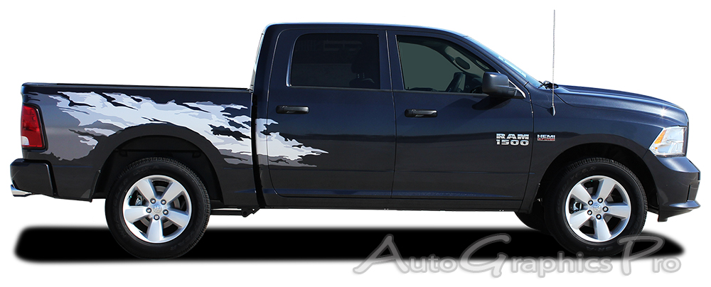 2009 2017 dodge ram quot rage quot rear bed truck power wagon vinyl graphic stripe kit