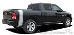 "2009-2015 Dodge Ram ""RUMBLE"" Rear Bed Truck Stripes Vinyl Graphic Stripe Kit"