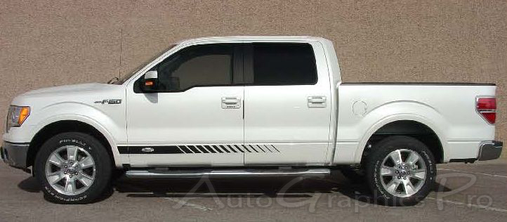 "... Ford F150 Decals ford f-150 ""rocker strobes"" lower rocker stripes"