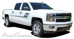 "2000-2015 Chevy Silverado ""SPEED XL"" Truck Side Vinyl Graphics Stripes Kit"