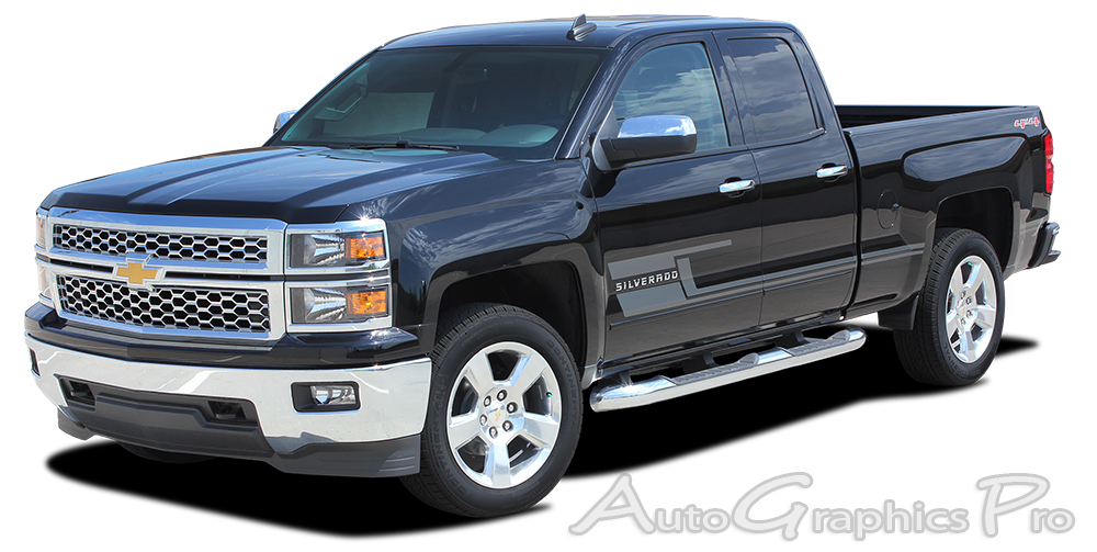 Chevy Silverado SHADOW Truck M Vinyl Graphics Stripes - Decal graphics
