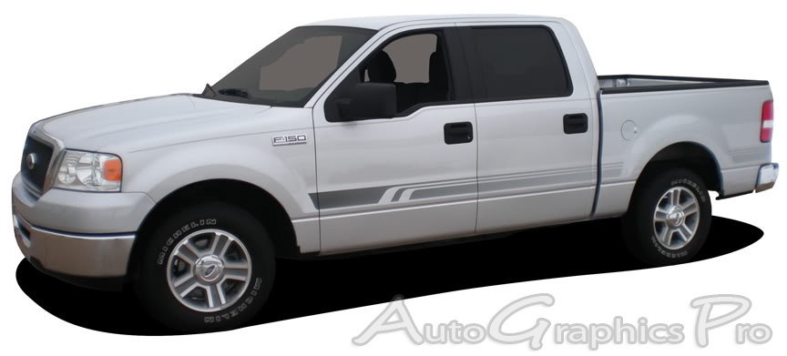 Ford F  F VIKING Lower Rocker Fade Style Universal Fit - F250 decals