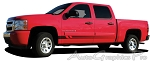 "Chevy Silverado ""VIKING"" Lower Rocker Fade Style Universal Fit Vinyl Decal Graphic Stripe"