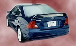 Honda Civic (2 Door) : Painted Rear Spoiler Wing fits 1996-2005 Models