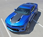2016 2017 2018 Chevy Camaro HERITAGE 50th Anniversary Style Hood Accent Trunk Spoiler Indy 500 Racing Stripes Kit fits SS RS V6