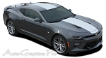 2016 2017 Chevy Camaro OVERDRIVE Center Wide Hood Roof Trunk Spoiler Rally Racing Stripes Kit fits SS RS V6