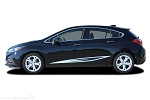 2016 2017 2018 Chevy Cruze Stripes IMPEL Rocker Decals 3M Vinyl Graphic Door Striping Kit