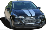 2016 2017 2018 Chevy Cruze Racing Stripes Decals 3M Vinyl Graphic DRIFT Rally Stripe Hood Trunk Hatchback Kit