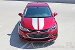 2016 2017 2018 Chevy Cruze Racing Stripes Decals DRIFT Rally Stripe Hood Trunk 3M Vinyl Graphic Kit