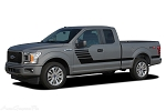 2015-2018 Ford F-150 Stripes LEAD FOOT COMBO New Edition Hockey Stripe Decals Vinyl Graphics Kit