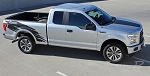 2015 2016 2017 Ford F-150 TORN Side Truck Bed Mudslinger Style Vinyl Graphic Decals Stripes Kit