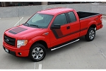 2009 - 2014 and 2015 2016 2017 2018 Ford F-150 Decals QUAKE HOOD / SIDES Stripes Factory Tremor FX Style Hockey Stick Side Vinyl Graphic Kits