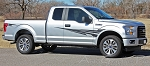 2015 2016 2017 Ford F-150 APOLLO ONE COLOR Fender to Side Door Panel Vinyl Graphics Decals Stripes Kit